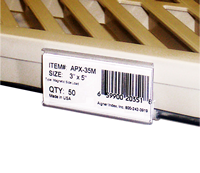 WireRac MAX, wire shelving label holder