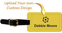 Customized Brass Luggage Tag with Leather Strap