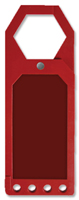 Red Blank Status Tag Holder