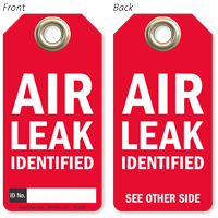 Air Leak Identified Tag