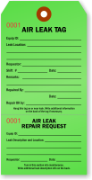 Air Leak Repair Tag