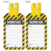 Barricade Self-Locking Tag