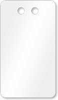 """2"""" x 3½"""" White PVC Tags"""