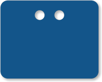 "2"" x 2½"" Blue PVC Tags"