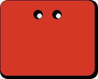 "2"" x 2½"" Red PVC Tags"