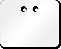 """2"""" x 2½"""" White PVC Tags"""