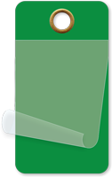 "1¾"" x 3¼"" Dark Green Self-Laminating Tag"