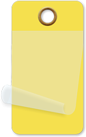 "1¾"" x 3¼"" Yellow Self-Laminating Tags"