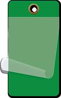 "2¼"" x 4¼"" Dark Green Self-Laminating Tag"