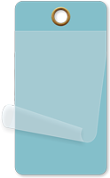 "2¼"" x 4¼"" Light Blue Self-Laminating Tag"