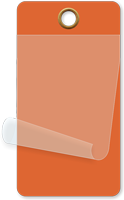 "2¼"" x 4¼"" Orange Self-Laminating Tags"