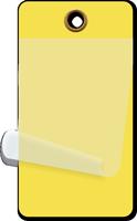 """2¼"""" x 4¼"""" Yellow Self-Laminating Tags"""