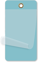 Light Blue Self-Laminating Blank Inspection Tag