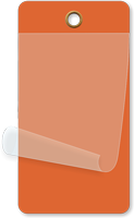 Orange Self-Laminating Blank Inspection Tag