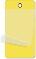 Yellow Self-Laminating Blank Inspection Tag