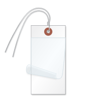 White Self-Laminating Tags With Ties