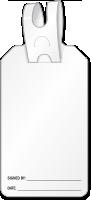 Blank Self Locking Tag