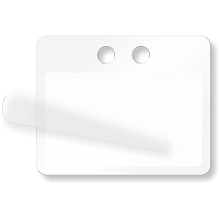 Blank Cable ID Self-Laminating Write-On 2 Holes Tag