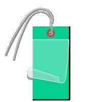 Dark Green Self-Laminating Tags With Ties