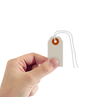 Grey Cardstock Tags (with strings)