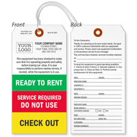 Custom Ready To Rent Tag