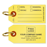 Custom Real Estate Tag with Key Ring