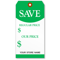 Custom Save Price Tag