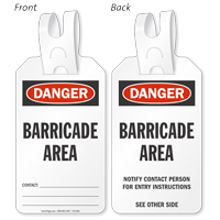 Danger Barricade Area Self-Locking Tag
