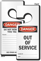 Danger Out Of Service Lockout Door Hanger
