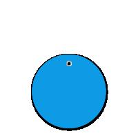 3 in. Circle Dark Blue Plastic Tags