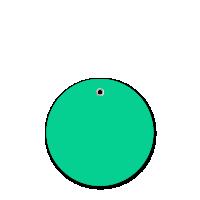 3 in. Circle Dark Green Plastic Tags