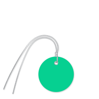 Plastic Circle Wired Tags, Dark Green