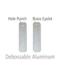 Debossable Dead-Soft Aluminum Blank Write-On Tags