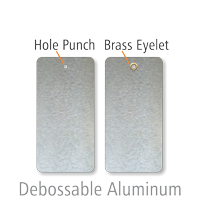 Debossable Dead-Soft Aluminum Write-On Indentable Tags