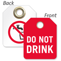 Do Not Drink Mini Valve Tag