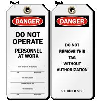 Do Not Operate OSHA Danger Tag