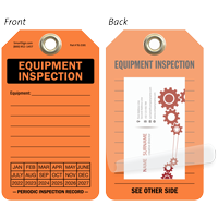 Equipment Inspection Self-Laminating Tag