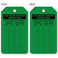 Eye Wash Station Inspection Plastic Tags