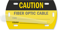 Caution Fiber Optic Cable