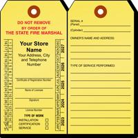 Louisiana Custom Fire Extinguisher Recharge Tag