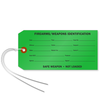 Firearms And Weapons Identification Tag With Wire