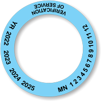Polyethylene Plastic Verification of Service Collars