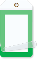 Green Border Blank Self-Laminating Tag
