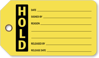 Hold Plastic Vinyl Inspection Tag