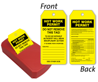 Hot Work Permit Two-Sided Inspection Record QuickTags™ Dispenser