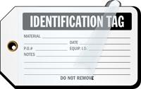 Identification Self-Laminating Tags