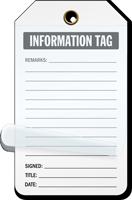 Information Tag Self-Laminating Tags