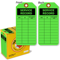 Service Record Tag-in-a-Box with Fiber Patch