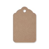Recycled Kraft Merchandise Tag