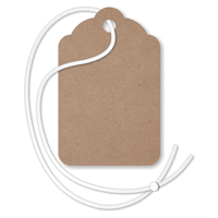 Recycled Kraft Merchandise Tag (with strings)